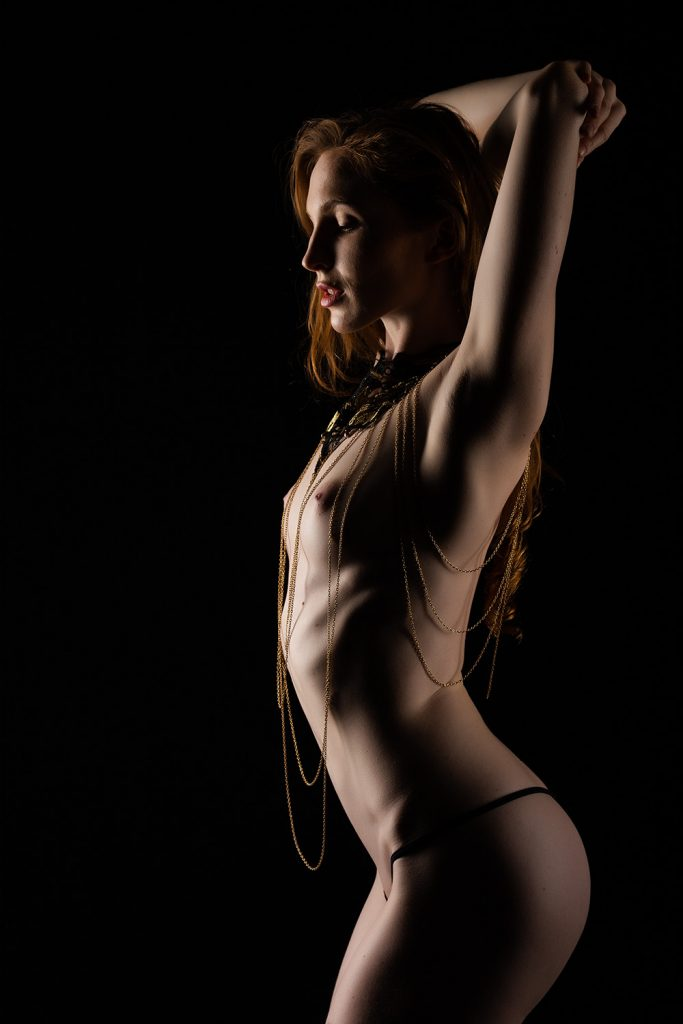 nude photography with great model